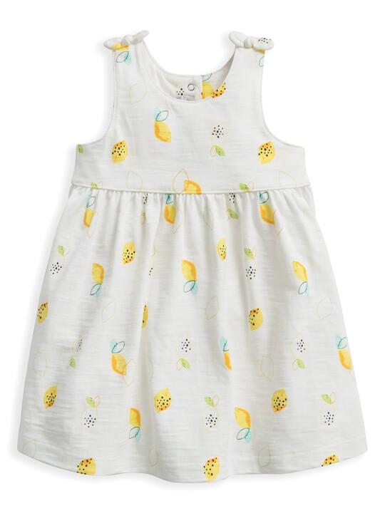 فستان جيرسيه بنقشة ليمون image number 1