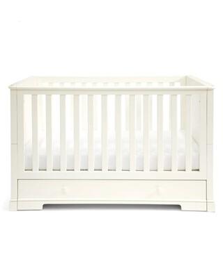 مهد وسرير للأطفال بسن المشي أكسفورد خشب بوحدة تخزين - أبيض
