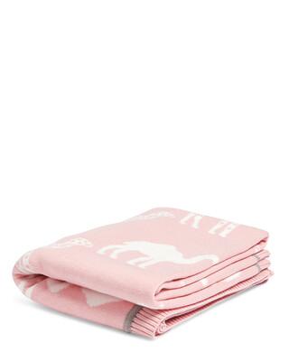 بطانية منسوجة (70 × 90 سم) - بينك كاميل