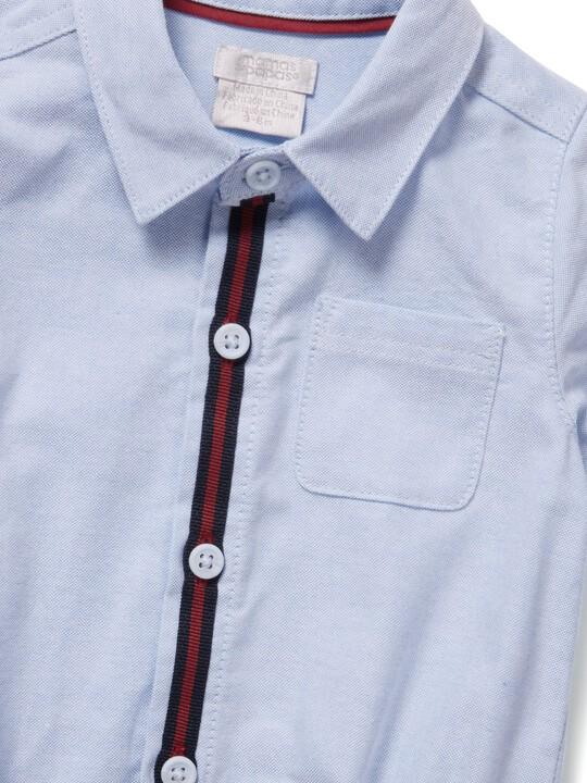 لباس قطعة واحدة شامبراي بأكمام قصيرة image number 3