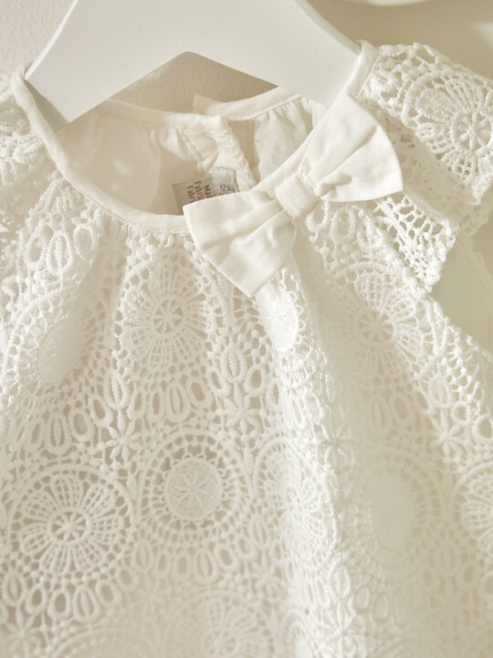 White Lace Romper image number 5