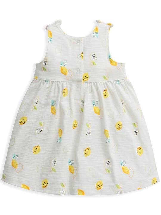 فستان جيرسيه بنقشة ليمون image number 2