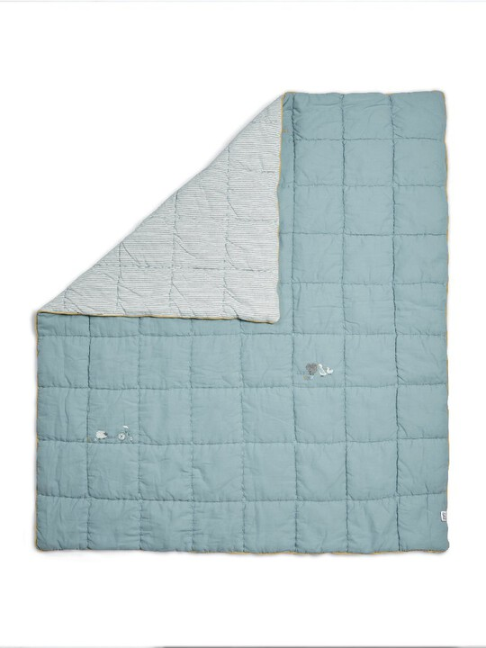 Welcome to the World Quilt - Cotbed/Cot - Blue image number 2