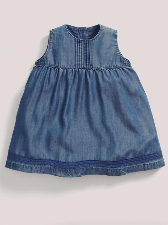 فستان بطيات دقيقة - أزرق image number 1