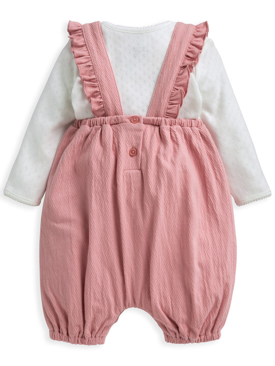 Embroidered Dungaree & Top 2 Piece Set image number 2