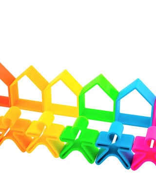 Dena 6 Kids + 6 Houses Neon