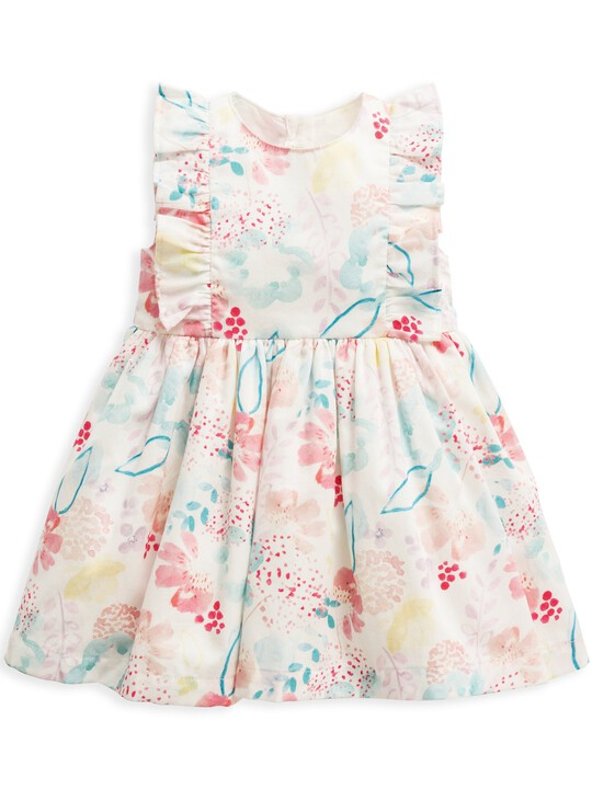 فستان بنقشة ألوان مائية image number 1