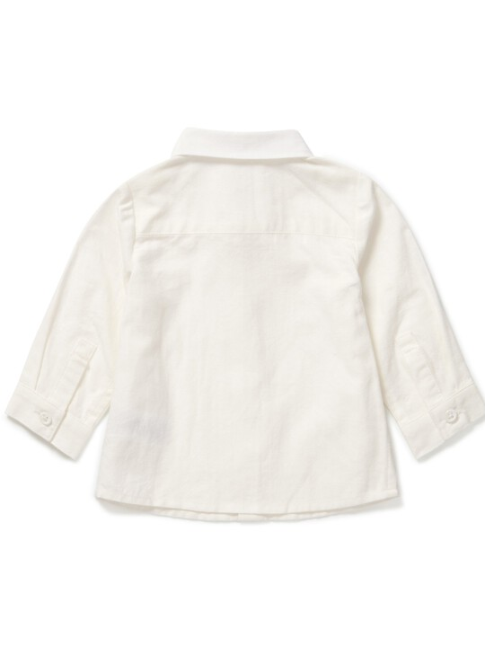 قميص أكسفورد أبيض image number 2