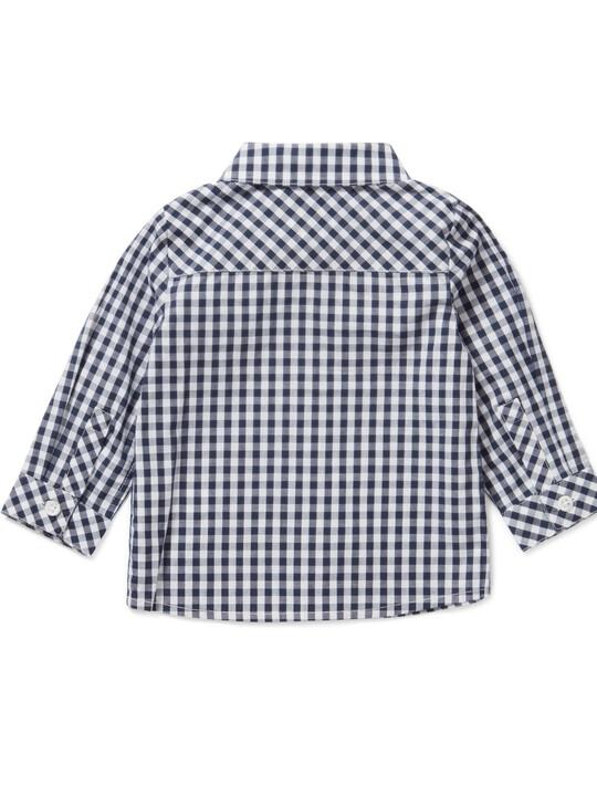 قميص بنقشة مربعات كحلي image number 2